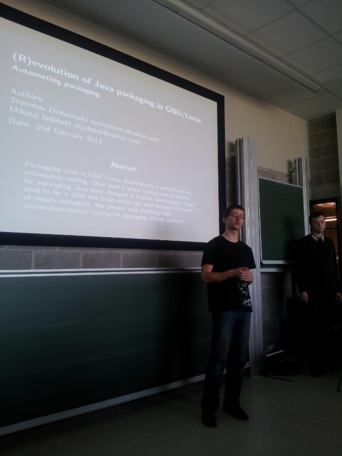 A talk at FOSDEM