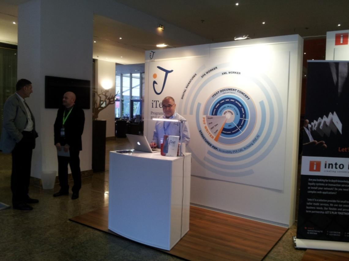 eID ePassport Conference Berlin: the iText booth