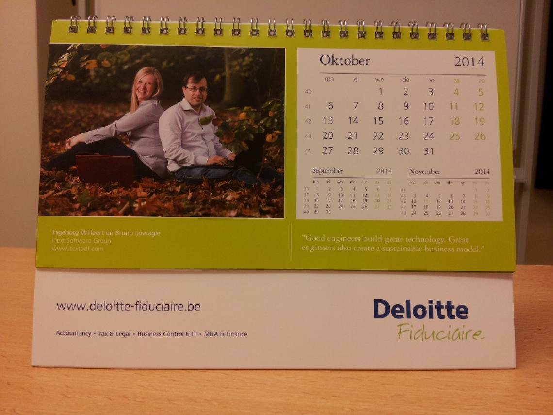 Deloitte Calendar - October 2014
