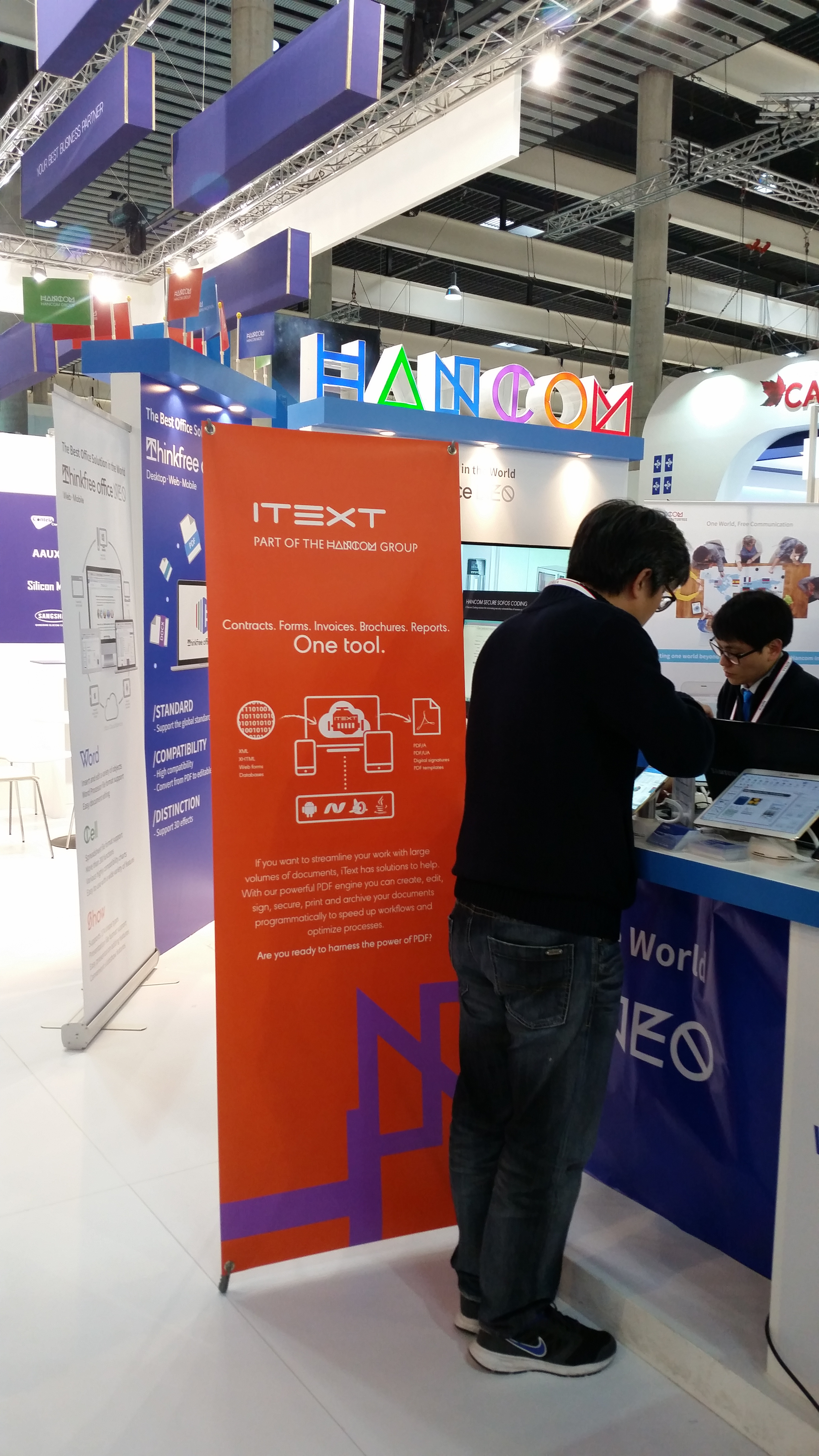 iText - Thinkfree - Hancom booth
