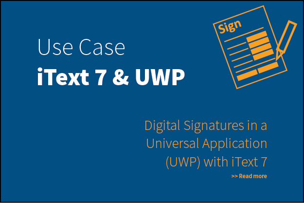 Digital Signatures in a Universal Application (UWP) with