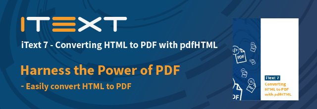 Book page : iText 7: Converting HTML to PDF with pdfHTML