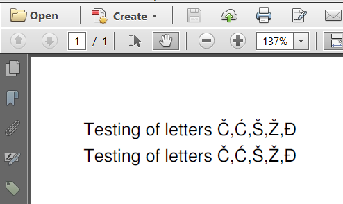 iText 7 : How to use Cyrillic characters in a PDF?