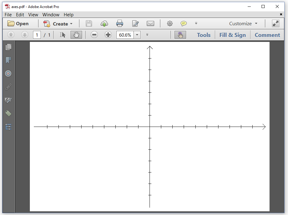 Figure 2.1: drawing an X and Y axis