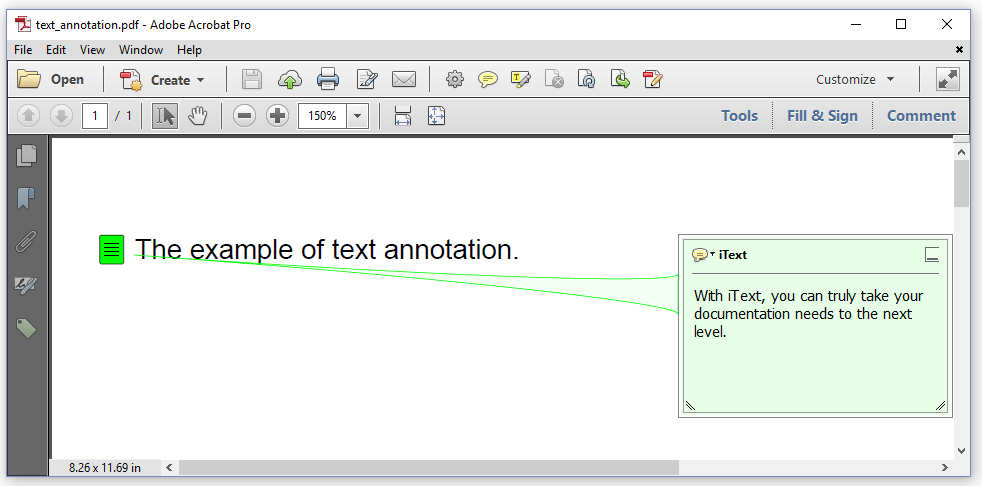 Figure 4.1: a text annotation