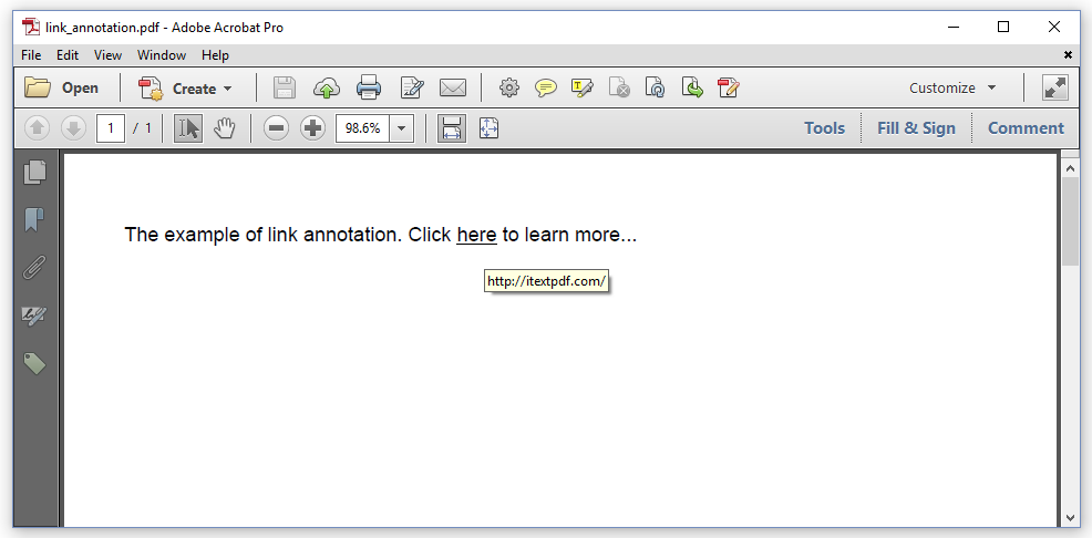 Figure 4.2: a link annotation