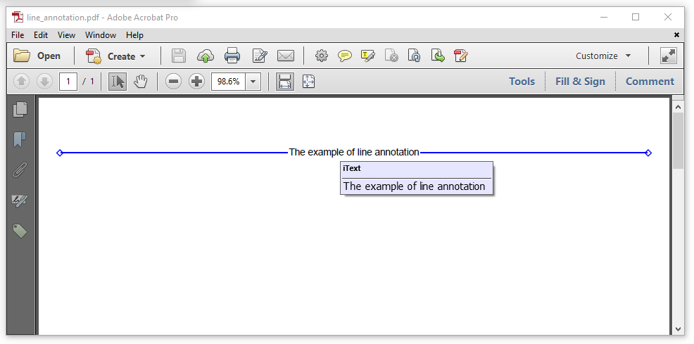 Figure 4.3: a line annotation