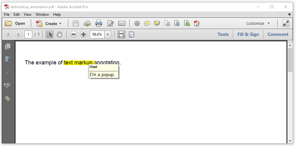 Figure 4.4: a markup annotation