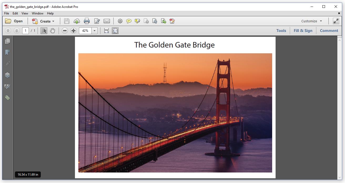 Figure 6.1: Golden Gate Bridge, original size 16.54 x 11.69 in