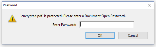 Figure 7.18: A PDF that requires a password
