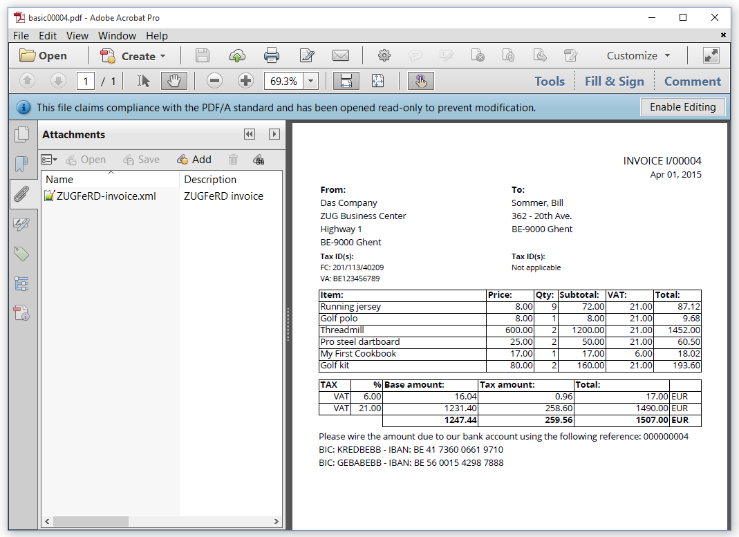 5. creating pdf invoices (basic profile) | itext developers, Invoice templates