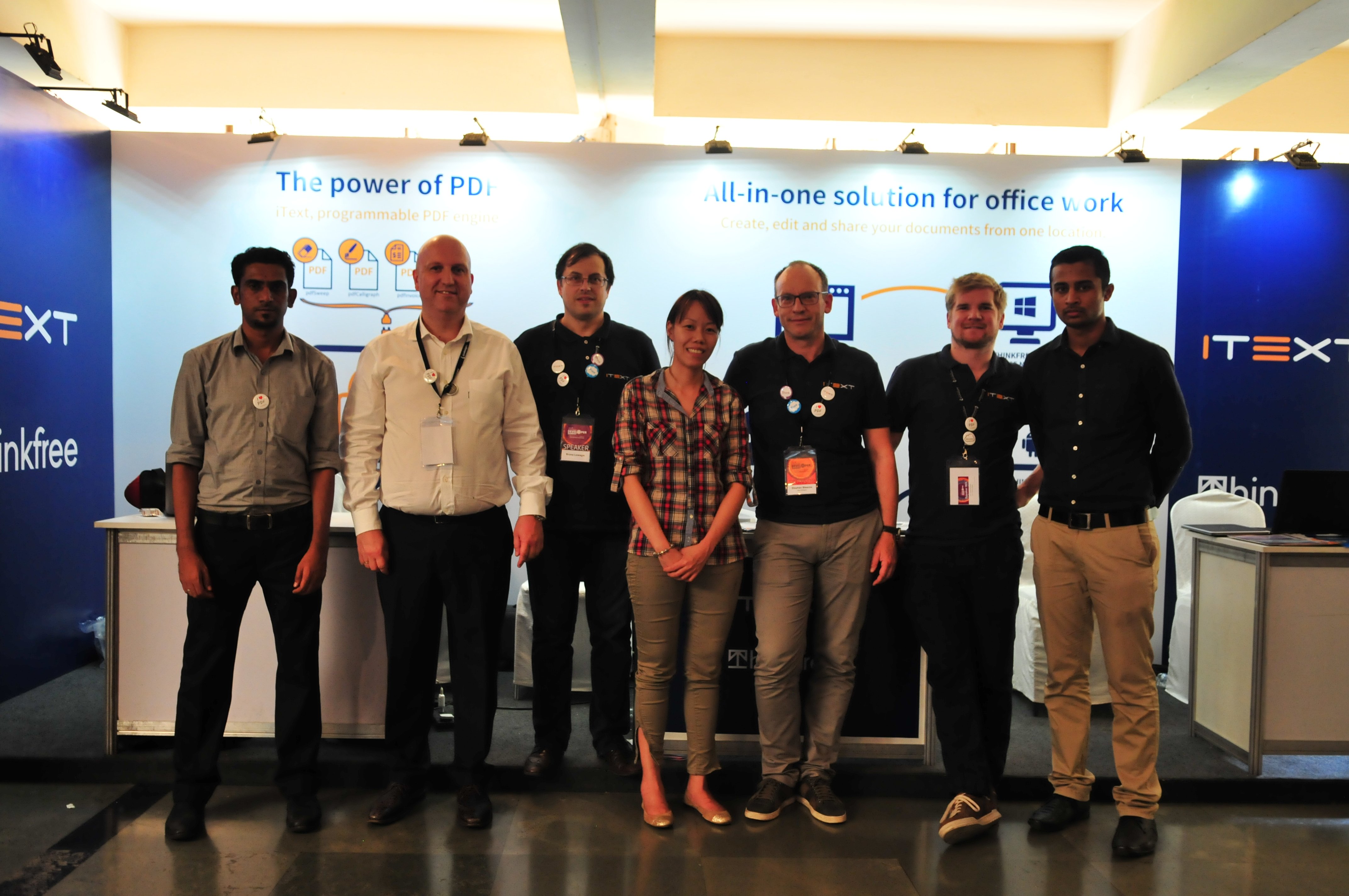 The iText crew at the Great Indian Developer Summit