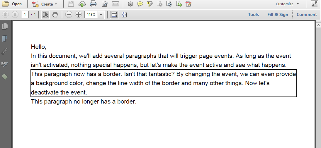 A paragraph with a border