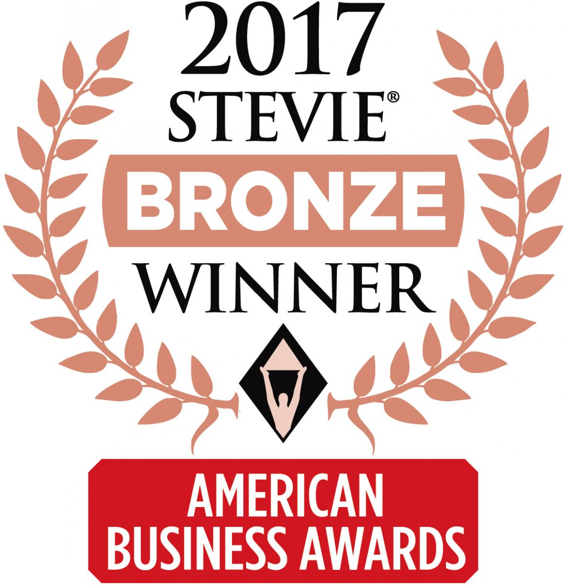 2017 Bronze Stevie Winner of American Business Awards