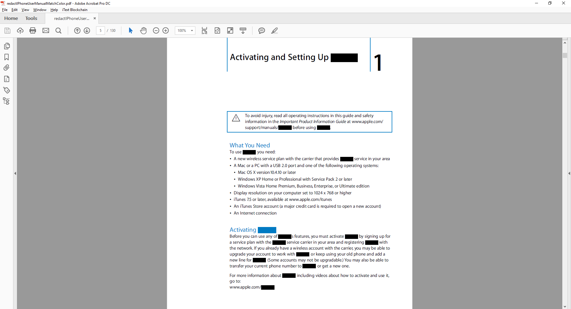 Custom redaction with pdfSweep