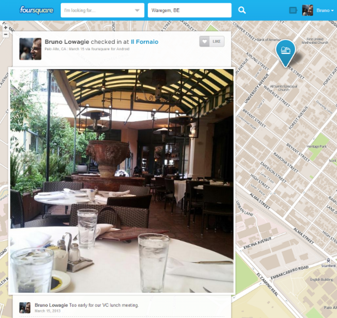 Visit to Il Fornaio, the restaurant where Silicon Valley VCs meet