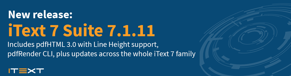 release iText 7.1.11