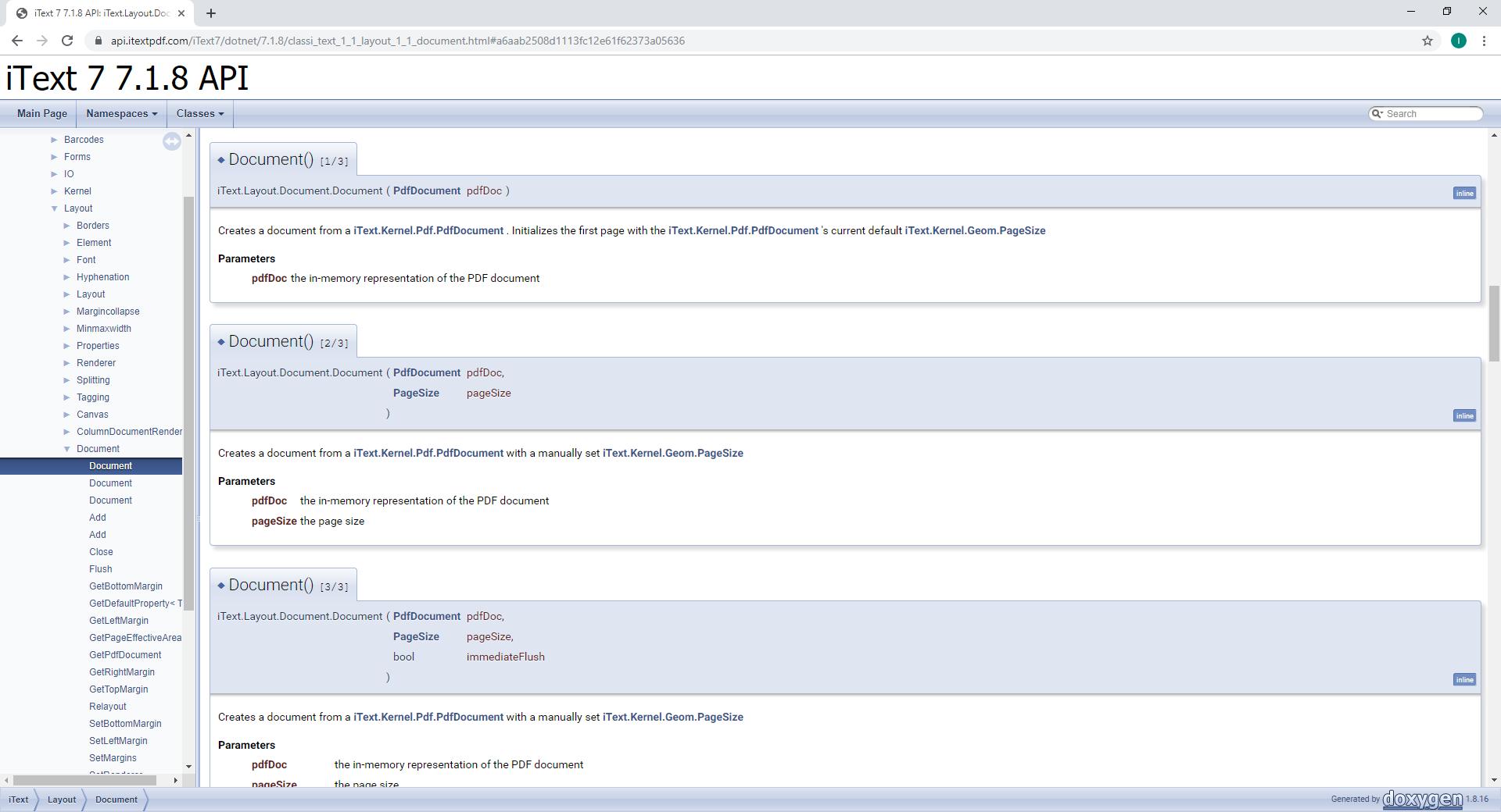 iText 7 .NET API docs