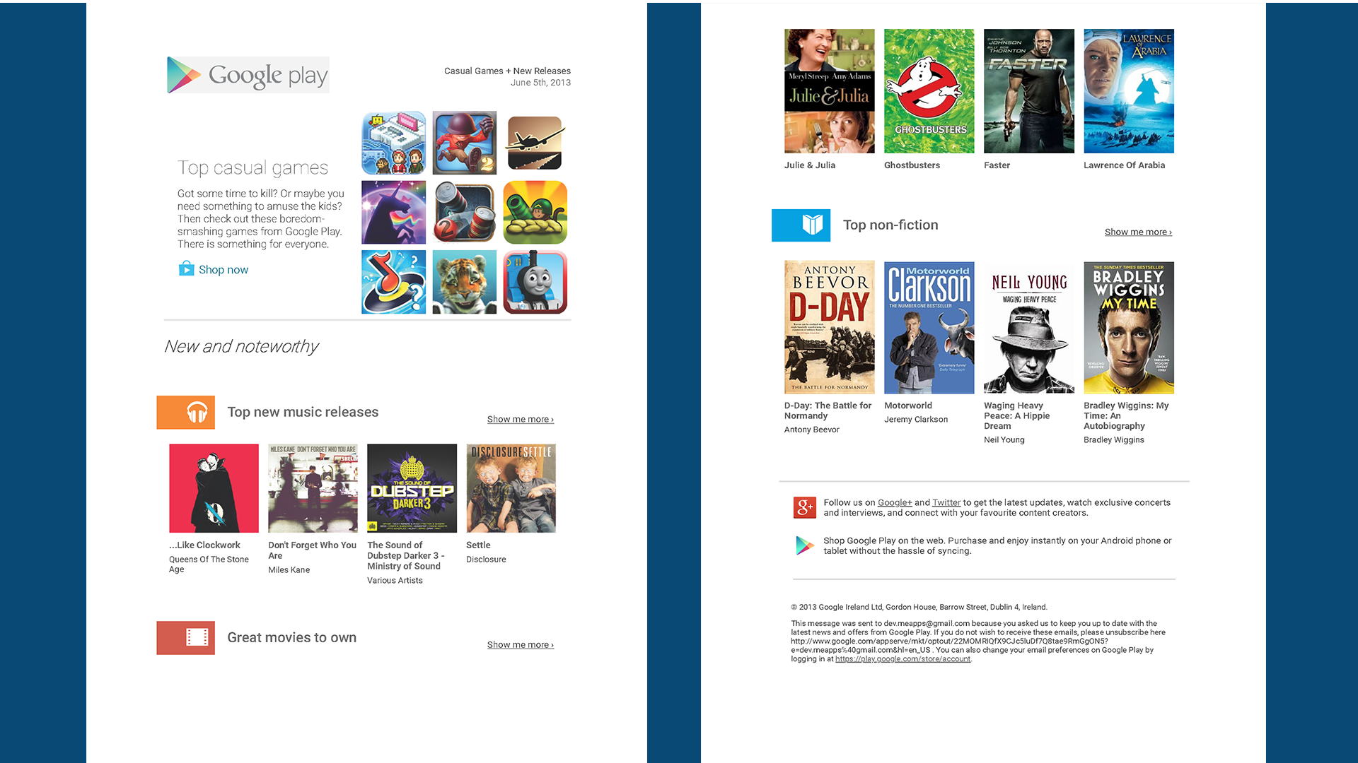 Original Google Play web page for comparison