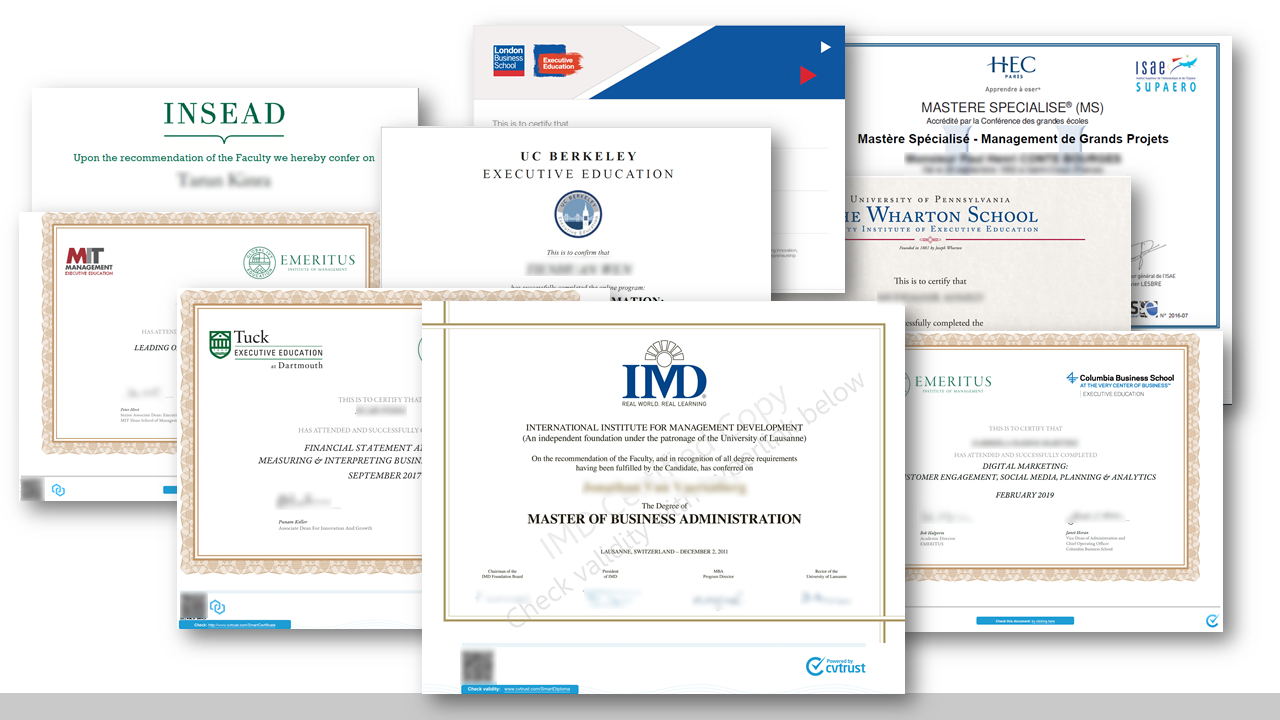 A collection of Smart Certificates