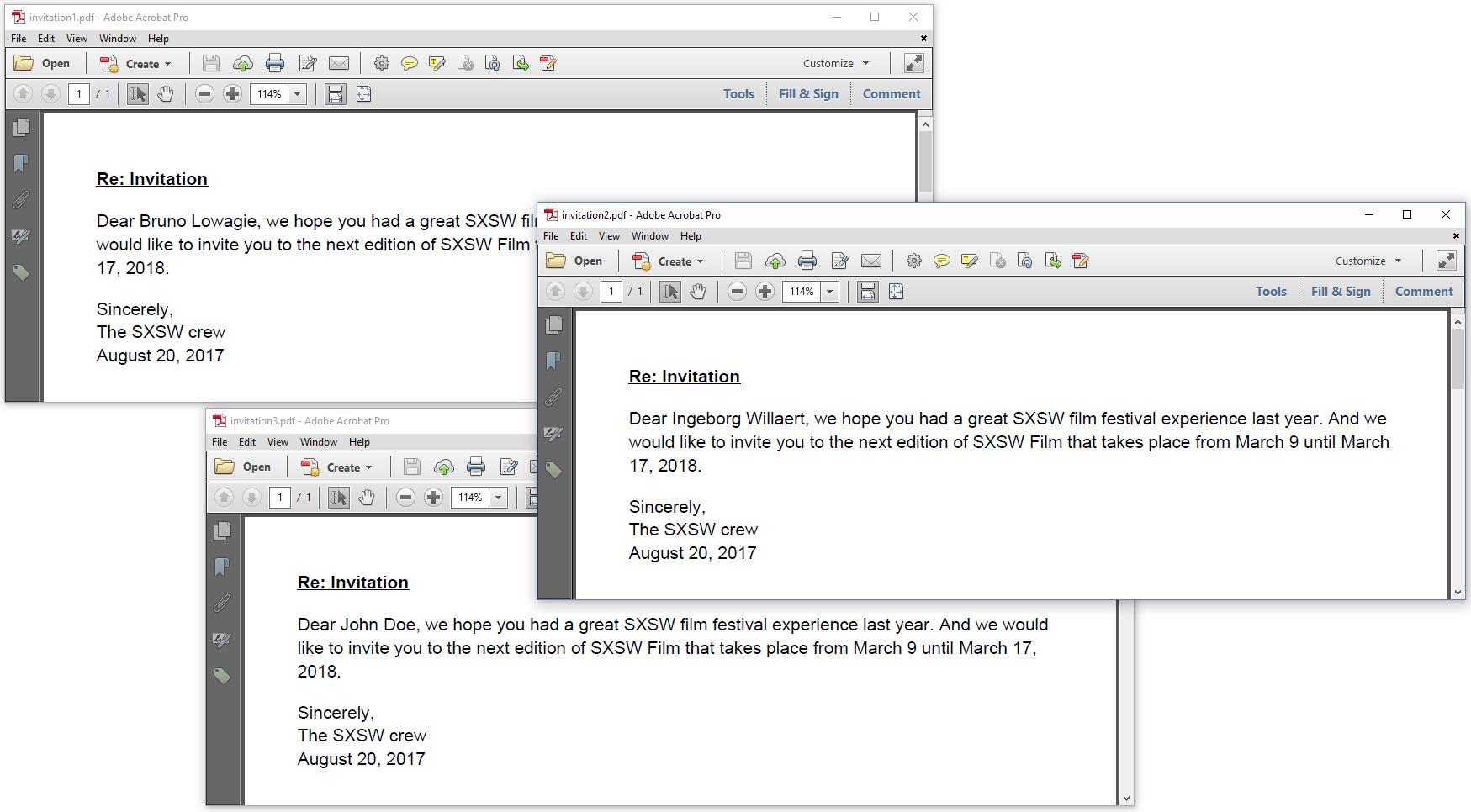 Figure 5.3: Custom tags are used to insert custom data