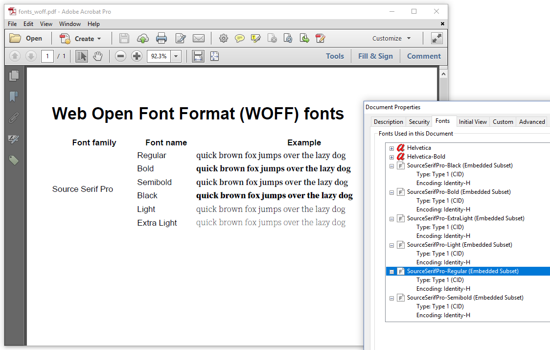 Book page : Chapter 6: Using fonts in pdfHTML