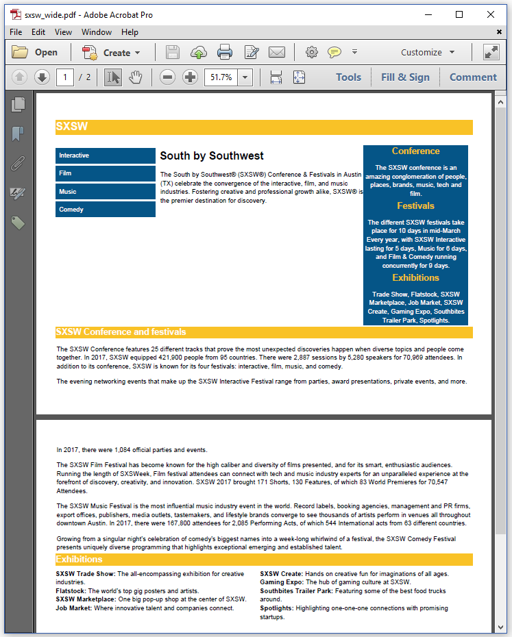 Figure 3.6: the SXSW PDF for a desktop screen