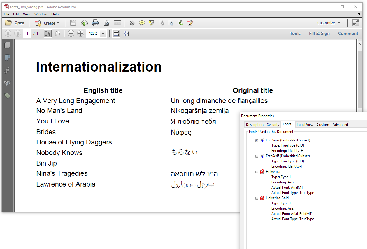 Figure 6.20: Internationalization done wrong (PDF without pdfCalligraph)