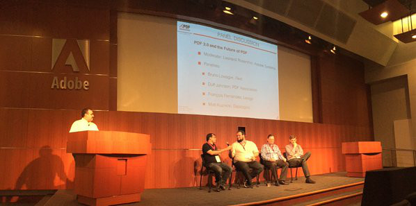 panel discussion about PDF 2.0