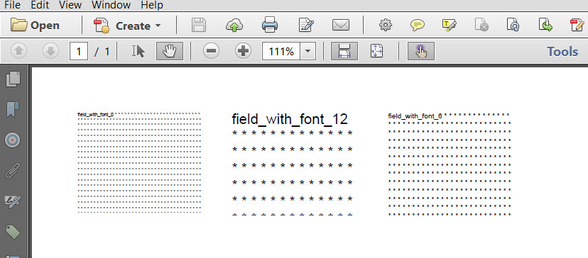 Filled out multiline fields