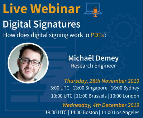 Digital Signatures - Live Webinar