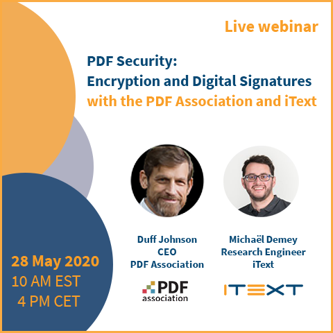 PDF Security: Encryption and Digital Signatures webinar image