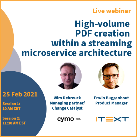 Cymo and iText DITO joint webinar