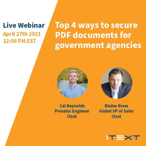 Live Webinar: Top 4 ways to secure PDF documents for government agencies