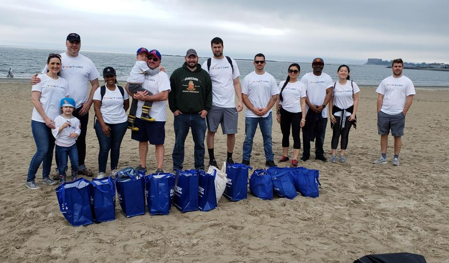iText US Boston Beach Clean Up 2019