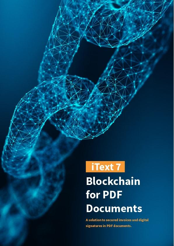 eBook cover Blockchain for PDF Documents