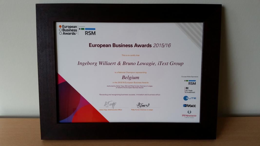 European Business Award 2016