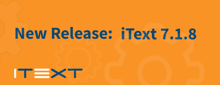 iText 7.1.8.
