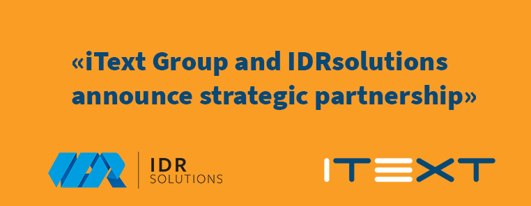 IDRsolutions and iText Group announce strategic partnership