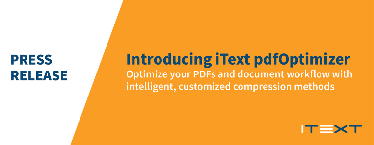 Press release: Introducing iText pdfOptimizer