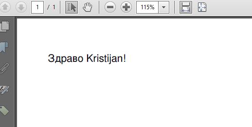 Cyrillic using FreeSans